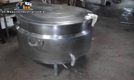 Pot 500 digestor liters in stainless steel
