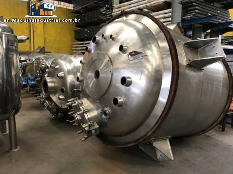 Vacuum pressure reactor 4.000 L Inoxil