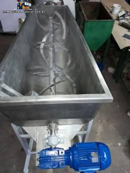 Ribbon Blender stainless steel Coupled conveyor screw